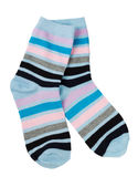 A pair of fashionable striped socks Royalty Free Stock Photos