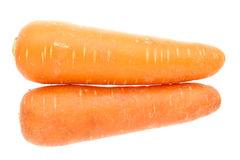 Pair Fat Carrots Royalty Free Stock Photography