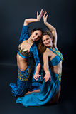 Pair of female belly dancers Stock Image