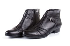 Pair of female black shoes Stock Photography