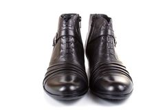 Pair of female black shoes Royalty Free Stock Photography