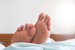 Pair of female feet Royalty Free Stock Image