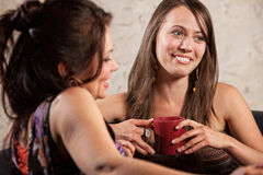 Pair of Female Friends Smiling Royalty Free Stock Images