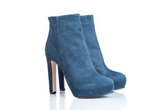 Pair of female high heel boots Royalty Free Stock Photos