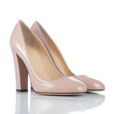 Pair of female high heel shoes Stock Images