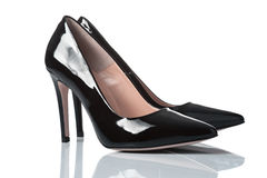 Pair of female high heel shoes Stock Photos