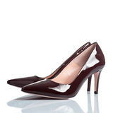 Pair of female high heel shoes Stock Photo