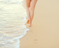 Pair of female legs Royalty Free Stock Images