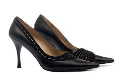 Pair of female shoes Royalty Free Stock Images
