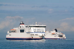 A pair of ferry ships Royalty Free Stock Photo