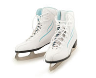 Pair of figure ice skates Royalty Free Stock Image