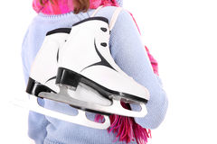 Pair of figure skates Stock Images