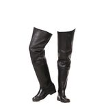Pair of fishing wellingtons. Stock Photos