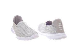 Pair of flat woman shoes Stock Photos