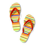 Pair of flip flops. Vector illustration of pair of flip flops Stock Images