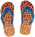Pair of flip flops Stock Photography