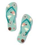 Pair of flip flops. Vector Stock Photography