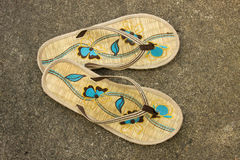 Pair of flip-flops Stock Photos