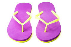 Pair of flip flops. isolated Royalty Free Stock Photos