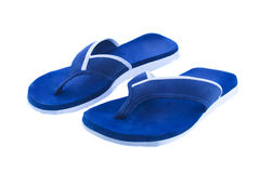 A pair of flip flops isolated white Royalty Free Stock Images