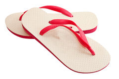 Pair of flip-flops Stock Images