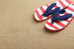 Pair of flip flops Royalty Free Stock Photos