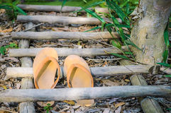 Pair of flip flops, usually worn by Vietnamese farmers. Stock Image
