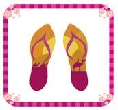 Pair of flip flops Stock Photography