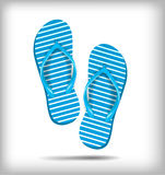 Pair of flip-flops  on a white background. Vector illustration. Royalty Free Stock Photos