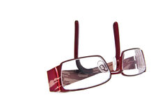 A  pair of  folded eye glasses Stock Photo