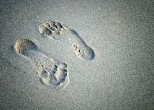 A pair of foot prints Royalty Free Stock Images