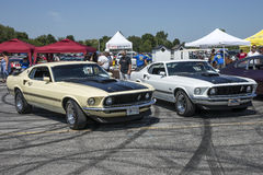 Pair of ford mustang mach1 Royalty Free Stock Image