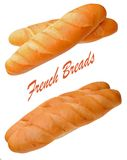 A pair of French bread Stock Photo