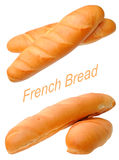 A pair of French breads Royalty Free Stock Photos