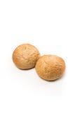 Pair Fresh baked wholegrain buns Royalty Free Stock Photos