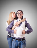 Pair in funny love concept Royalty Free Stock Image
