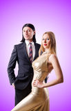 Pair in funny love concept Royalty Free Stock Photography