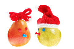Pair funny pear. For background stock image