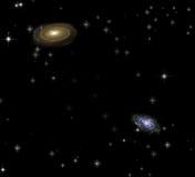 Pair of galaxies Royalty Free Stock Image