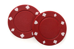 Pair of gambling chips Stock Photo