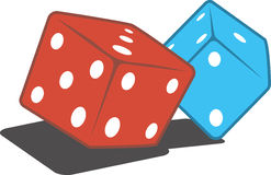 Pair of gaming dices Royalty Free Stock Images