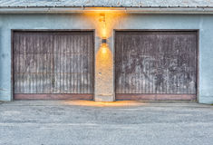 Pair of Garage Doors Royalty Free Stock Image