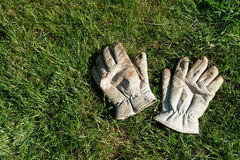 A pair of gardening gloves Stock Photography