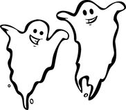 Pair of Ghosts Royalty Free Stock Photo