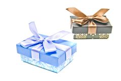 Pair of gift boxes Royalty Free Stock Photography
