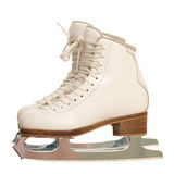 Pair of girl figure skates over white Stock Photos