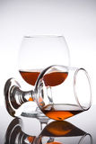 Pair of glass brandy Stock Photography
