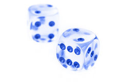 Pair of glass dice Stock Photography
