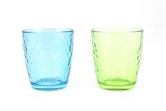 Pair of glass mugs Royalty Free Stock Photos