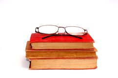 A pair of glasses and book. A pair of glasses and some books Royalty Free Stock Photography